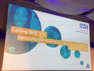 Calling NHS 111 poster